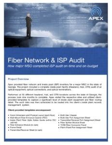 Fiber Network & ISP Audit